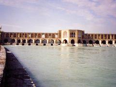 Pol-e- Khagoo BRIDGE inIsfahan by <b>Behrooz Rezvani</b> ( a Panoramio image )