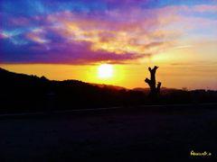Sunset ? Mediterranean ? Kanoua  by <b>Abdellatif B?</b> ( a Panoramio image )