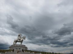 GIANT Genghis Khan Equestrian Statue by <b>wiltzius</b> ( a Panoramio image )