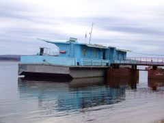 Wharfboat on the Banks of the Yenisey. by <b>peteaholbrook</b> ( a Panoramio image )