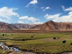 Pasture Along the Lhasa River by <b>Danny Xu</b> ( a Panoramio image )
