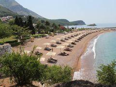 Beach. Sveti Stefan by <b>LudMila</b> ( a Panoramio image )