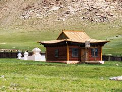 Cycle in Mongolia:  temple yard by <b>jlguo</b> ( a Panoramio image )