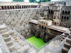 Palace and Chand Baori, Step-Well, Abhaneri, Rajasthan by <b>alexbunjes</b> ( a Panoramio image )