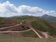 Road to the Son Kul by <b>Wolfgang Tschertou</b> ( a Panoramio image )