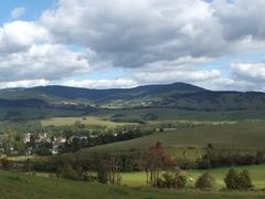 Panoramic view of Cerveny Potok Village and Snieznik Mountains / by <b>DM brothers</b> ( a Panoramio image )