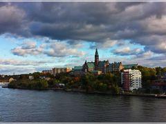 Stockholm from Viking lines Ship (Dedicated to Viktor Petrovski) by <b>Ahmet Bekir</b> ( a Panoramio image )