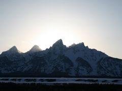 Sunset behind the Grand, Grand Teton National Park, Wyoming by <b>Richard Ryer</b> ( a Panoramio image )