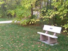 High Trestle  Trail bench by <b>jpmidwest</b> ( a Panoramio image )
