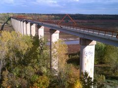 High Trestle Trail Bridge view of Supports from West by <b>jpmidwest</b> ( a Panoramio image )