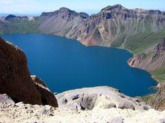 Changbai mountain volcano lake of China by <b>samwong</b> ( a Panoramio image )