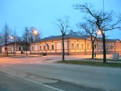 Old garrison building in central Vaasa by <b>Bertil Berg</b> ( a Panoramio image )