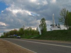 Entrance sign of Smaliavi?y by <b>Andrej Ku?nie?yk</b> ( a Panoramio image )