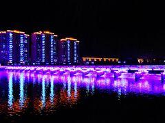 Китай. Яньцзи. Ночной мост. China. Yanji. Night bridge. by <b>Veniamin Manuylov</b> ( a Panoramio image )