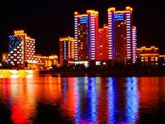 Китай. Яньцзи. Ночные краски города. China. Yanji. Night of pain by <b>Veniamin Manuylov</b> ( a Panoramio image )