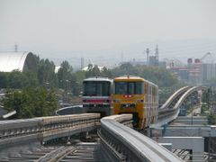 Trains: Osaka Monorail to and from the Osaka Airport by <b>ThoiryK</b> ( a Panoramio image )