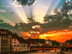 Sunset Lucerne, Switzerland by <b>David Guruli</b> ( a Panoramio image )